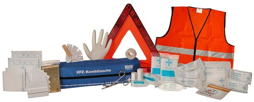Car Safety Kits with warning triangle and/or reflective vest